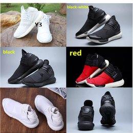 Descuento altos tops hombres 45 Todos los hombres blancos Y3 Qasa del color de las zapatillas de deporte superiores de la buena calidad Mujeres Zapatos unisex clásicos Y-3 de los hombres Zapatos negros rojos de los cargadores Tamaño 36-45
