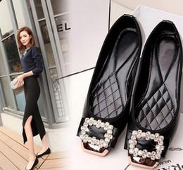Us size: 5-10 New Vintage Fashion Check Fashion Metal Letter Bow Flat Plus Size Flat Heel Single Shoes Women's Shoes Free Shipping