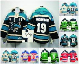Wholesale Ice Hockey hoodies San Jose Sharks Washington Capitals signature signed jersey Patrick Marleau Joe Thornton Alex Ovechkin