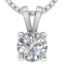 Wholesale Vintage Ct Round Diamond Jewelry Kt Oro Blanco Solitario Colgante Collar