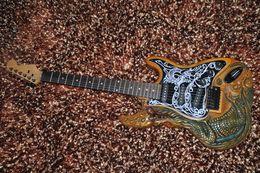 Guitare fantôme sculpté corps st guitare électrique Chine a fait de haute qualité à faible coût en stock à partir de china stock guitare fabricateur