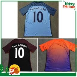 Wholesale 2016 Manchesters DE BYUYNE STERLING KUN AGUERO KOMPANY soccer Jersey City home away shirts