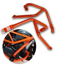 Orange Motorcycle Crash Bars Frame Guard Protector for KTM 390 DUKE 2013-2016