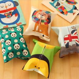 Wholesale Hot Cute Cartoon Creative Fabric Tissue Box Living Room Family Car Pumping Paper Napkin Box Sets Restaurant Decoration V3212