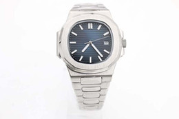 Wholesale Hot sell Nautilus A Sport Watch Men Brand Auto Monement Watch Silver Case Blue Dial Stainless Band men Watch
