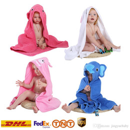 2017 5 colors baby Kids Robes Spring Animal Bathrobe Towel Toddler Girl Boy Cartoon Pattern Bath Towel Bath Robes Swaddle Blanket