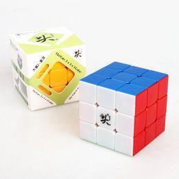 2017 dayan juguete Dayan Guhong 3x3 cubo mágico Niños juguetes educativos Magic Game Stickerless cubo Puzzle velocidad dayan juguete en oferta