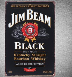 JIMBEAM BOURBON WHISKEY Tavern Wall Decor Bar club Sign Tin Plaque PICTURE pub