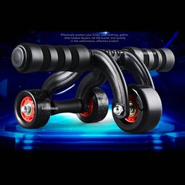 Wholesale 2016 new Multi function Abdominal wheel ABS Roller Round Three Wheels home fitness Equipment fitness sports household training