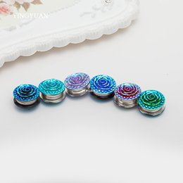 XT78 12pcs lot wholesale Double-faced Rose magnet brooches fashion magnet stronger retro brooch Round broches hijab accessories