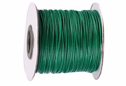 0.5mm Green Korea Polyester Wax Cord Waxed Cord Thread+DIY Jewelry Bracelet Necklace Wire String Accessories 200yards roll