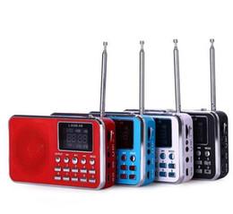 2017 boîte de haut-parleur de radio L-938B Portable AM / FM Radio Haut-Parleur Musique Lecteur MP3 Mini Music Speaker Multifonctionnel Sound Box avec TF Card USB Disk Input budget boîte de haut-parleur de radio