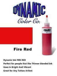 Wholesale DYNAMIC FIRE ROUGE oz Tattoo Ink Brite Vibrant Dark Color Supply Une des meilleures encres dans l industrie du tatouage
