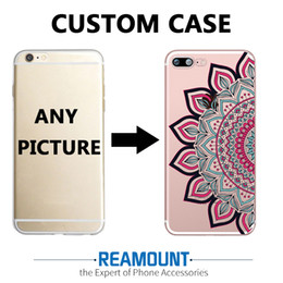 3D DIY Mandalas Custom LOGO & Picture Transparent Phone Back Cover Case for iphone 6s plus for Samsung s7 edge Unique Shell Phone Cover Case