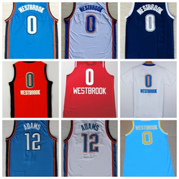Wholesale Cheap Russell Westbrook Jersey Christmas All Stitched Discount Mens Steven Adams Basketball Jerseys Orange Blue White