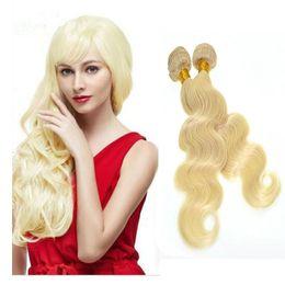 8A Brazilian Human Hair 2 pcs 200g a lot #613 Body wave 100% Virgin Hair Bundles Unprocessed Brazilian Hair Extensions No tangle