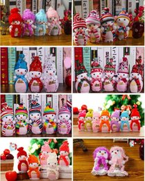 Wholesale New Snowman Christmas Wedding Favour Candy Bag Gift Apple Candy Bags Wrapping Papers Fruit Christmas Bag