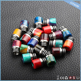 Wholesale Chinaye newest product polymer materials epoxy resin drip tip mouthpiece for e cigarette fit rda rdta atomizer vaporizer