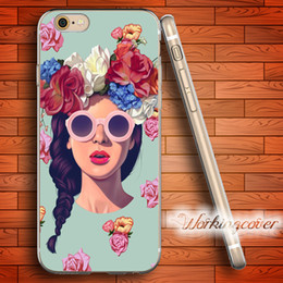 Fundas Lana Del Rey Rose Soft Clear TPU Case for iPhone 7 6 6S Plus 5S SE 5 5C 4S 4 Case Silicone Cover.