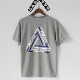 Wholesale PALACE TRI CRIB T SHIRT Men Women Stripe Triangle Hip Hop Kanye West Fashion Cotton T Shirts Street Skateboards Tees Shirt Tops
