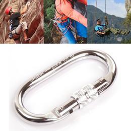 Mini-roches en Ligne-Nouvelle Arrivée Mini mousqueton avec vis Lock sécurité boucle Outdoor Rock Climbing équipement d'alpinisme Outils de survie MA0314