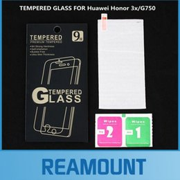 300pcs Ultra thin Premium Tempered Glass for HUAWEI Honor 3X Mobile Phone Screen Protector With Retail Box