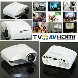 2016 tuner audio vidéo Vente en gros-Nouveau Digital Mini Projecteur Construit En Tuner TV LED Vidéo Projecteur USB HDMI VGA 3.5mm Projecteur Audio Prix Cheap tuner audio vidéo sur la vente