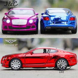 Wholesale Hot New bentley GT Cars Metal Alloy Diecast Toy Car Model Miniature Scale Model Sound and Light Emulation Electric Car
