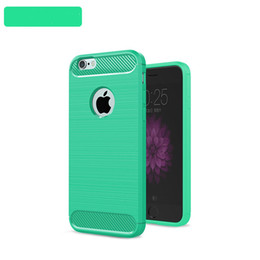 100pcs Case For iphone 6plus 7plus 5.5'' Brushed Armor Shockproof Soft TPU Case for iphone 5s 6 7 Cover