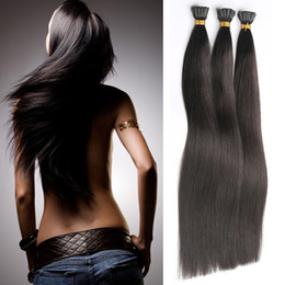 Wholesale I Tip Fusion Hair Extensions Natural Hair Extensions Keratin 1g s 50g Stick Brazilian Remy Human Hair Extension