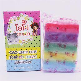 Wholesale Gluta Whitening Soap rainbow soap OMO White Mix Fruits Color Alpha Arbutin Anti Dark Spot for bath body in stock