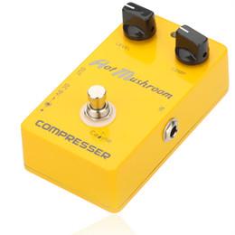 Caline CP-10 True Bypass Design Compresor Pedal de Efecto de Guitarra Diseñado con encendido / apagado LED Durable Jacks and Foot Switch desde el pie del pedal interruptor de la guitarra fabricantes