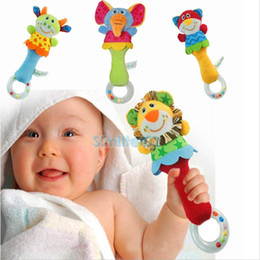 New Animal Handbells Musical Developmental Toy Bed Bells Kids Baby Soft Toys Rattle & Developmental Game Xmas Gifts