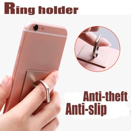 Wholesale 2017 New Mobile Phone Ring support mobile phone holder stent degree rotating bracket cat phone supports anti theft