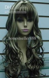 Wholesale cheap Stylish long wig curl mix hair Women's wigs