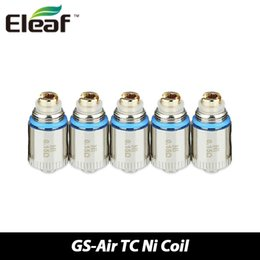 Wholesale Original Eleaf GS Air TC Ni Coil ohm Resistance Heads GS Air Pure Cotton Wick and NI TC Heating Wire Coil Heads