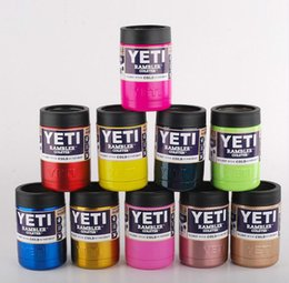 Wholesale High quality oz Stainless Steel Colster can Yeti Coolers Rambler Colster YETI Cars Beer Mug Insulated Koozie oz Cups colors Free ship