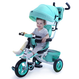 Pneumatic Inflatable 3 wheels tricycle children bicycle baby stroller bike kids ride on cars 6months 1-2-3-4-5 years old toys baby outdoor