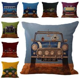 Wholesale Animal Driving car Dog Driver Throw Pillow Cases Cushion Cover case Pillowcase Linen Cotton Square Pillow Cover Pillowslip Pillow Cover