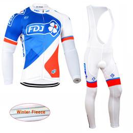 2017 pro invierno baberos de ciclismo 2017 El favorable equipo FDJ que completa un ciclo Jersey que completa un ciclo los pantalones largos del babero de la camisa + pro invierno baberos de ciclismo outlet