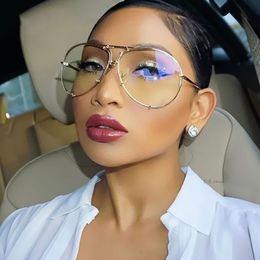 Fashion Classic Lady Oversized Pilot Sunglasses Women 2017 New Brand Design Sun Glasses For Female Big Glasses Frame Eyeglasses