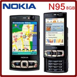 Wholesale Original Nokia N95 GB Unlocked Inch G MP Camera MP3 Playback GPS Bluetooth mAh Slider Refurbished mobile phone