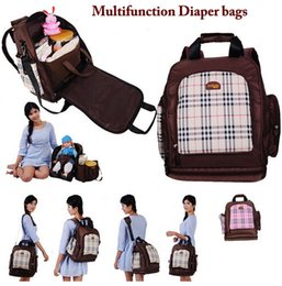 Wholesale Multifunctional Baby Nappy Diaper Bags Big Maternity Backpack For Moms Waterproof Oxford Chair Seat Travel Bags