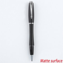 Tracking Number! Free shipping Full Metal Urban rollerball matte surface pen Business black roller ball Pen Silver clip