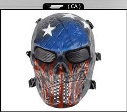 H0877360 CS Cráneo Esqueleto Full Face Tactical Paintball Proteger Seguridad Terror Máscara Halloween Cosplay Vestido Máscara Jagged horror accesorios protect paintball deals desde proteger a paintball proveedores