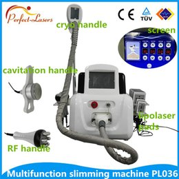 Wholesale 4 In cryolipolysis machine Ultrasonic Cavitation Vacuum Radio Frequency fat freezing cryolipolyis Lipo Laser Slimming Machine for Spa