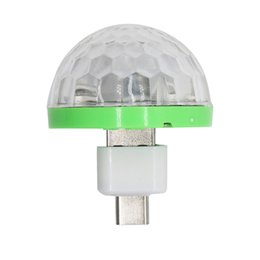 Wholesale Mini Led USB V RGB Colorful Ball Music Control Light KTV DJ Disco Light Jump Stage Lamp Effect Light For Computer Smart