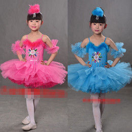 Ballet Dance Skirt Kids Ballet Tutu Costume Girl Swan Dance Wear Professional Chromatic Ballet Bitter Fleabane Skirt