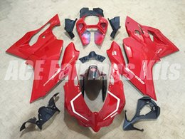 Wholesale New Injection Mold ABS bike Fairing Kits Fit For DUCATI Panigale s Bodywork set red white color