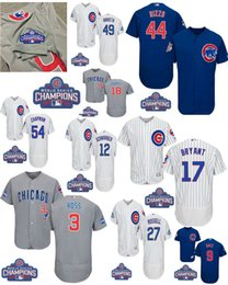 Wholesale 2016 World Series patch Men Chicago Cubs Javier Baez Kris Bryant Anthony Rizzo Ben Zobrist baseball jerseys